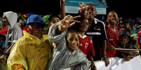 Fans are pictured before the round 15 Super Rugby match between the Chiefs and the Crusaders at ANZ Stadium in Suva, Fiji. Photo / Getty