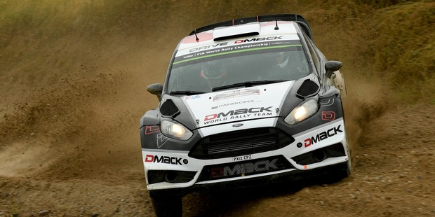 Ott Tanak during Day Three of the WRC Poland. Photo / Getty Images