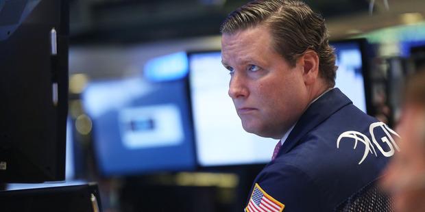 A NYSE trader. Photo / Spencer Platt