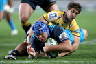 James Parsons led from the front in the Blues' big win over the Brumbies. Photo / Getty