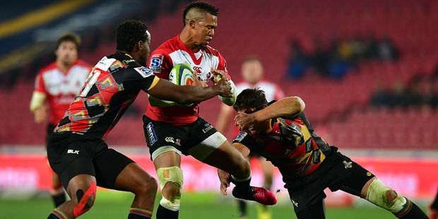 Elton Jantjies of the Lions. Photo / Getty