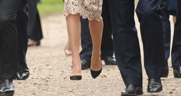 A closer look at Kate's levitating legs. Photo / Getty