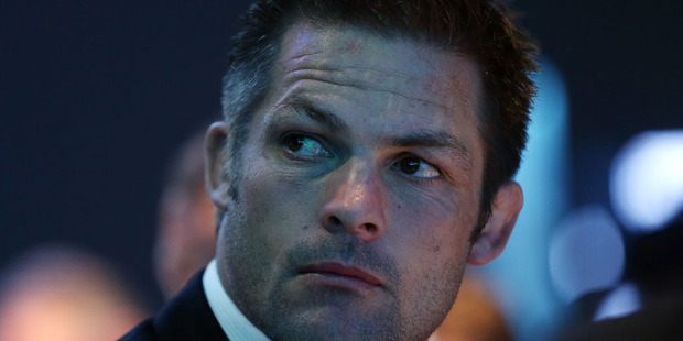 Loading All Black captain Richie McCaw looks on during the 2015 Steinlager Rugby Awards. Photo / Getty Images.