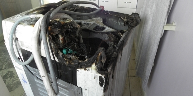 A Runanga resident had a lucky escape when their washing machine caught fire. Photo / Greymouth Star
