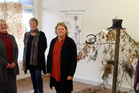 CONSIDER THE BIRDS: From left, Diane Harries, April Pearson, Helen Budd, Cassandra Knight and Jacqui McGowan at Gallery On Guyton. PHOTO/STUART MUNRO