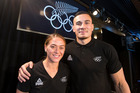 Niall Williams and her brother Sonny Bill Williams at the Olympics announcement. Photo / Jason Oxenham