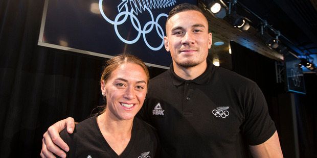 Loading Niall Williams and her brother Sonny Bill Williams at the Olympics announcement. Photo / Jason Oxenham