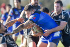 Ngongotaha player Fetaianauso Tauiliili on the charge at Puketawhero Park yesterday.  Ben Fraser
