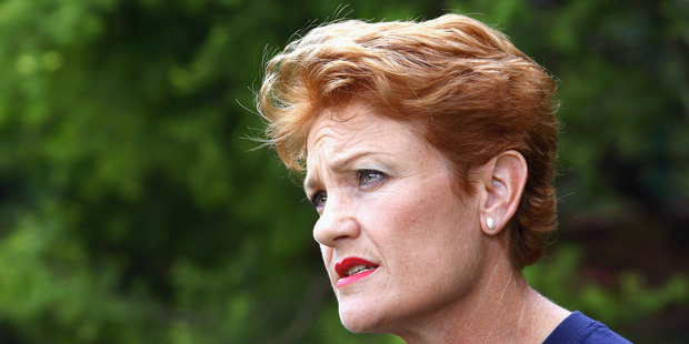 """Pauline Hanson's One Nation is a male-dominated outfit."" Photo / Gettyimages"