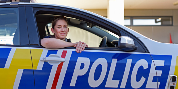 Rookie Tauranga police officer Rebekka Still, celebrating 75 years of women in the police force. Photo/George Novak