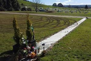 Vandals disrespect Kauae Cemetery.