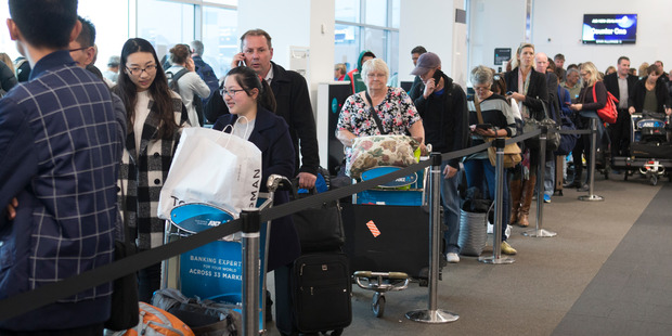 Airline passengers have had a day of disruption. Photo /  Mark Mitchell