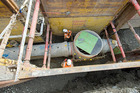 Christchurch City Council has been crunching the numbers over the past few months on how much insurance to get and how to get it for the costs of the underground pipes. Photo / Christchurch Star