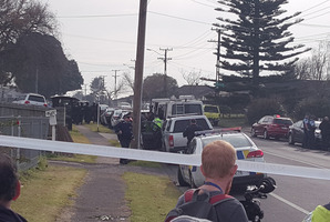 The street is cordoned off and residents within 200m are being evacuated. Photo / Supplied