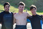 Tahu Nikora, Max Richard and Theo Montel were praised for their actions after getting into trouble. Photo /  Otago Daily Times