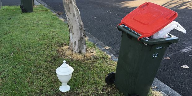 Someone seems to have put grandpa with the rubbish in Grey Lynn.