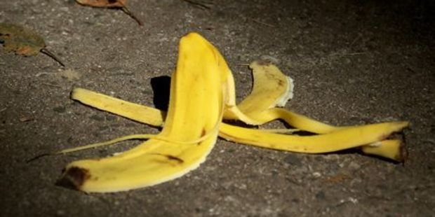 Can you can really slip on a banana peel as the cliche suggests?