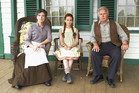 Sara Botsford, Ella Ballentine and Martin Sheen in Anne of Green Gables.