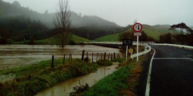 Flooding in Hikuai, Coromandel. Photo / via Facebook