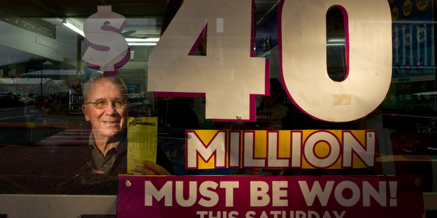 Loading Ken Morley is one of many in Rotorua who have bought a ticket for tonight's$40 million Powerball. PHOTO/STEPHEN PARKER