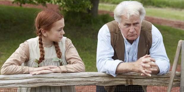Ella Ballentine and Martin Sheen in Anne of Green Gables.