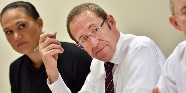 Leader of the Labour party Andrew Little with during a Procedure's meeting in Parliament in Wellington. Photo / Marty Melville