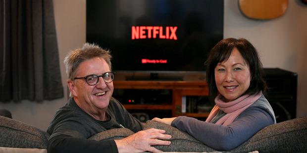 Matua residents Veronica and Andy Craw have been enjoying Scottish and American sitcoms on Netflix. Photo/John Borren