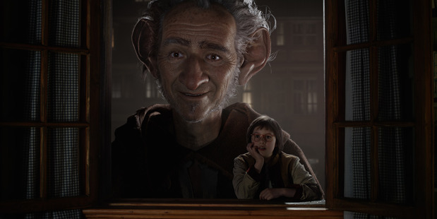 THE BFG with Mark Rylance and the Big Friendly Giant and Ruby Barnhill as Sophie (Supplied)