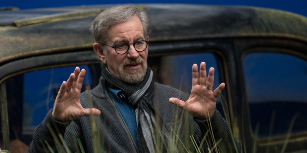 Director Steven Spielberg on the set of Disney's The BFG, based on the book by Roald Dahl. Photo / Supplied