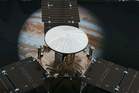 A 1/4 scale model size of NASA's solar-powered Juno spacecraft is displayed at the Jet Propulsion Laboratory in Pasadena, Calif. Photo / AP