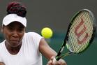 Venus Williams returns to Yaroslava Shvedova of Kazahkstan during their singles match. Photo / AP