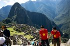 The cave paintings were found close to the ancient ruins of Machu Picchu. Photo / AP