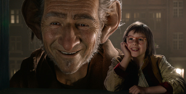 The BFG and Sophie (played by Ruby Barnhill) hit NZ cinemas this week. Photo / Disney, AP