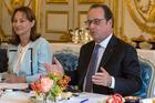 French President, Francois Hollande with Segolene Royal. Photo / AP