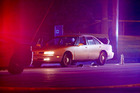 A car at the scene of a shooting of a man involving a St. Anthony Park Police officer. Philando Castile died later in hospital. Photo / AP