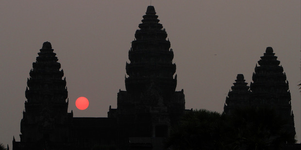 Visitors will have to dress modestly if they wish to enter the Angkor Wat temples. Photo / AP