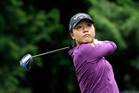 Lydia Ko tees off in the first round at the Women's PGA Championship in June. Photo / AP