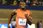 Usain Bolt at the Racers Grand Prix track and field event at the National Stadium in Kingston. Photo / AP