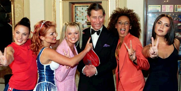 Even Prince Charles couldn't resist the Spice Girls allure.