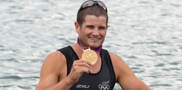 Rower Nathan Cohen, who won gold in the men's double sculls at London four years ago, is the most recent Christchurch-born Olympian to land a medal. Photo / Brett Phibbs