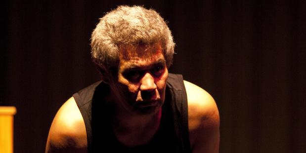 Actor Rawiri Paratene in the play Purapurawhetū.
