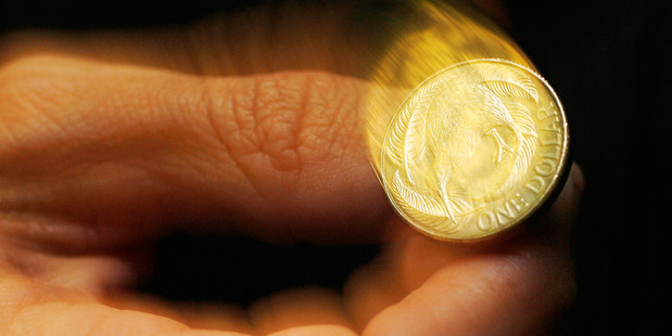 The kiwi dollar rose to 96.04 Australian cents from 95.55 cents on Friday. Photo/Greg Bowker.