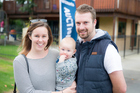 First-time home hunters Gemma Mann and Mike Alsweiler with their son Harper. Photo / Michael Craig