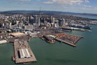 Auckland councillors will today consider the Port Future Study, which recommends Ports of Auckland will have to move to a new location. Photo / Brett Phibbs