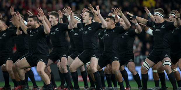 I can't bear to miss the All Blacks haka, no matter they perform it 15 times a year. Photo / Brett Phibbs