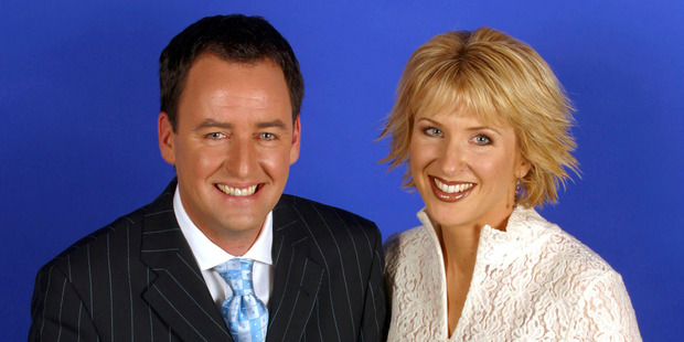 Mike Hosking and Kate Hawkesby hosted Breakfast together from 2002 to 2003.