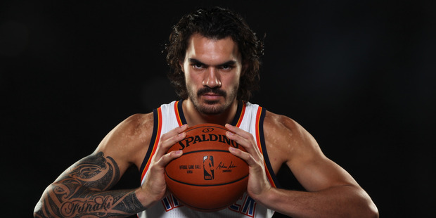 Steven Adams #12 of the Oklahoma City Thunder poses for a portrait during 2015 NBA Media Day on September 28, 2015. Photo / Getty Images.