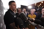 Sonny Bill Williams speaks to the media today