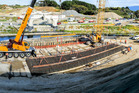 Construction taking place on the Te Moana Road interchange in Waikanae which is part of Kapiti Expressway.