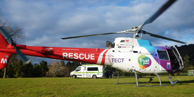 The TECT Trustpower Rescue helicopter was dispatched to Waihi last night. Photo/file